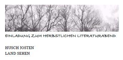 Herbstlicher Literaturabend
